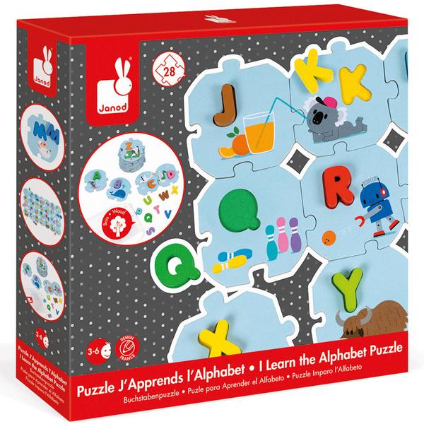 L'alphabet Puzzle JanodKing Pièces JouetPremiers 28 J'apprends DIWE92H