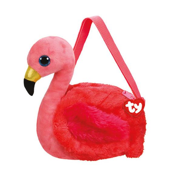 Sac bandoulière peluche Gilda le flamant rose