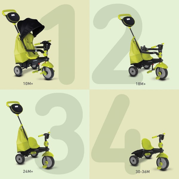 Tricycle évolutif 4 en 1 Swing DLX vert