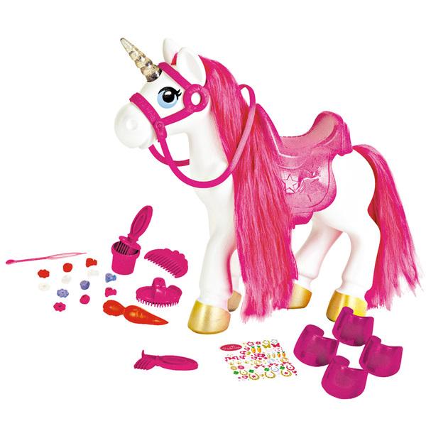 Licorne à crinière rose