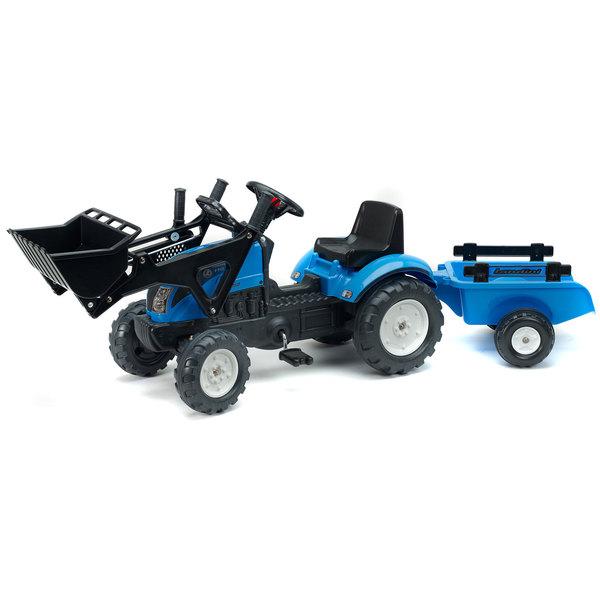 tracteur p dales landini avec pelle et remorque falk king jouet v hicules voitures. Black Bedroom Furniture Sets. Home Design Ideas