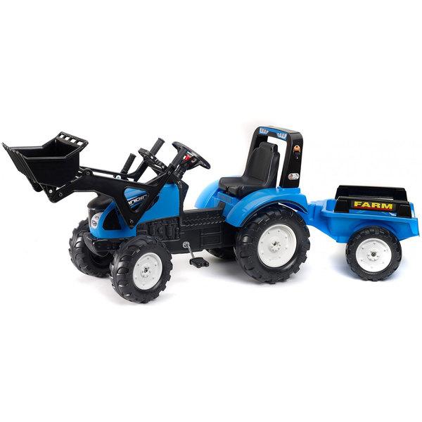 tracteur new holland avec pelle et remorque falk king jouet voitures p dales falk sport. Black Bedroom Furniture Sets. Home Design Ideas