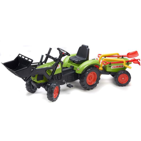 tracteur p dales claas avec remorque et accessoires falk king jouet voitures p dales falk. Black Bedroom Furniture Sets. Home Design Ideas