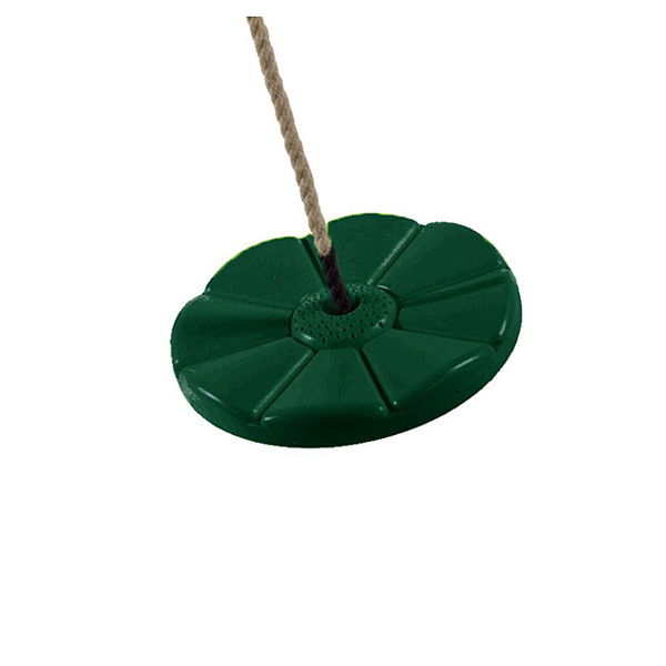 Siège balançoire disque vert sapin