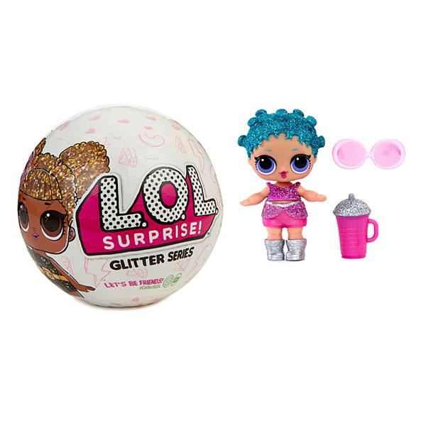 boule lol 7 surprises glitter splash toys king jouet figurines et cartes collectionner. Black Bedroom Furniture Sets. Home Design Ideas