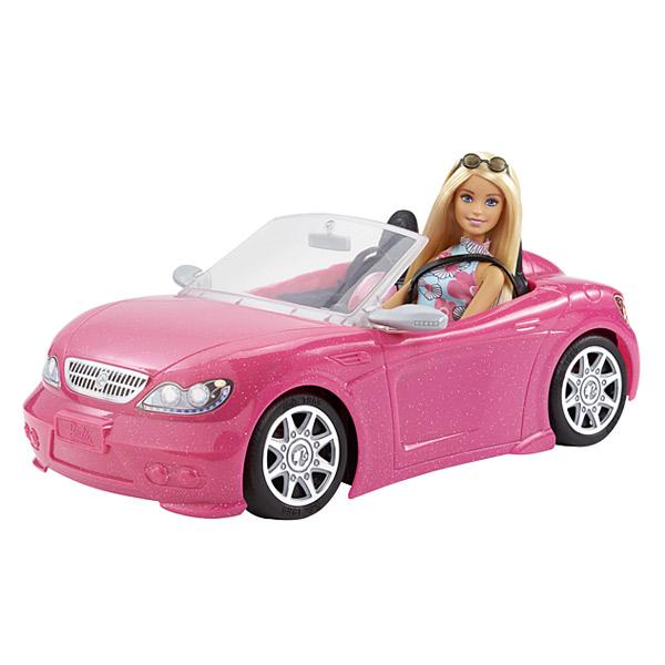 Poupée Barbie et cabriolet rose