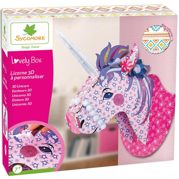 Kit créatif Lovely Box GM - Licorne 3D