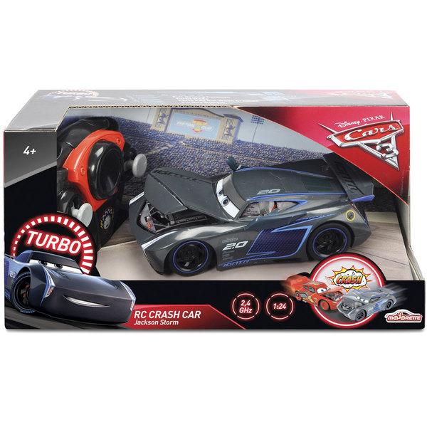 Cars 3-Voiture radiocommandée Crash Jackson Storm