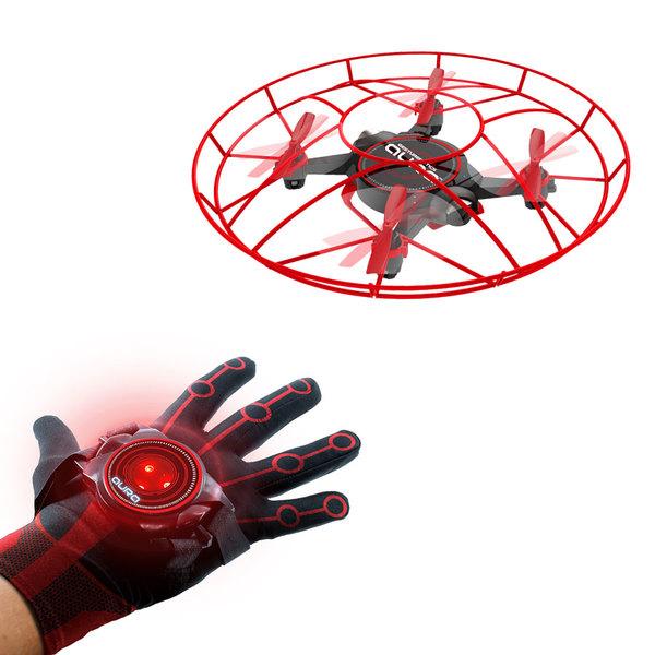 Drone Aura télékinétique et son gant magnétique