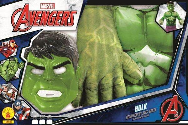 Déguisement Hulk avec gants 5/6 ans