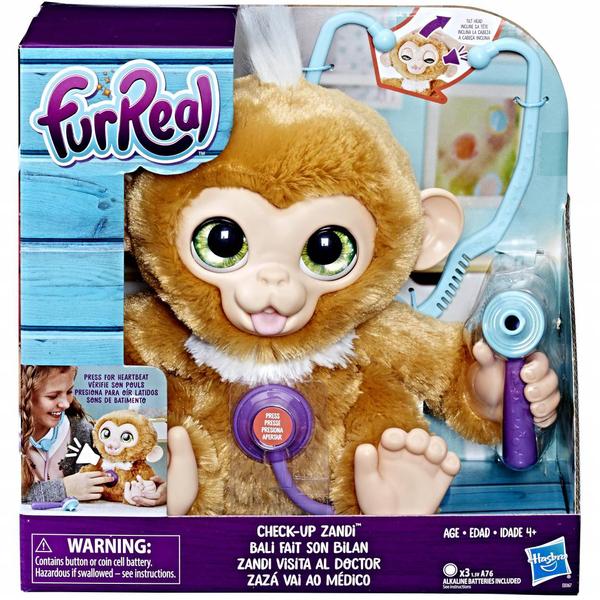 Peluche FurReal Friends-Bébé singe va chez le médecin