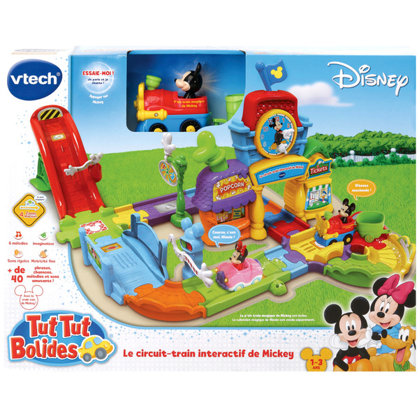 Le circuit train interactif de Mickey Tut Tut Bolides - Disney