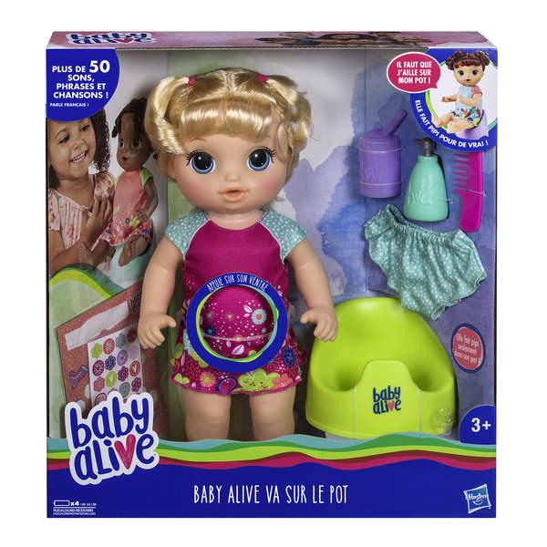 Poupée Baby Alive va sur le pot blonde
