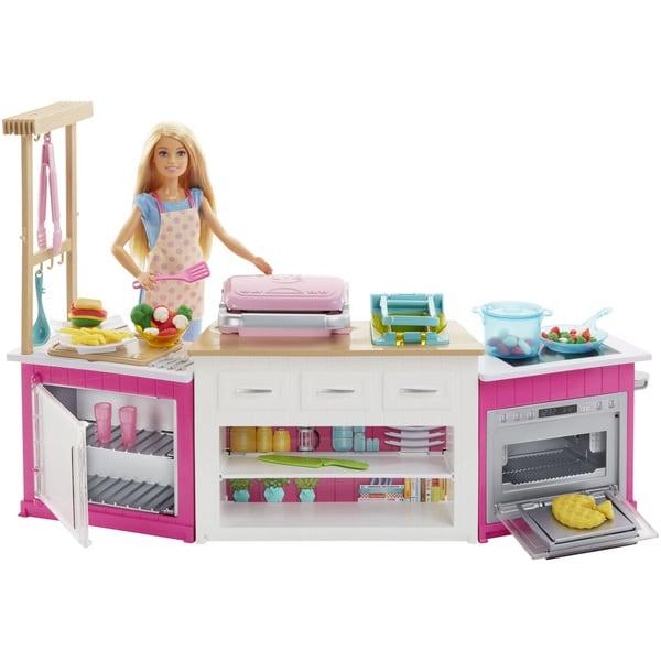 Mini Real Food Kitchen: Barbie-Coffret Cuisine à Modeler Mattel : King Jouet