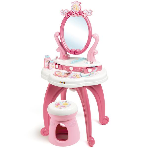 Disney princesses - coiffeuse 2 en 1 + tabouret - 10 accessoires