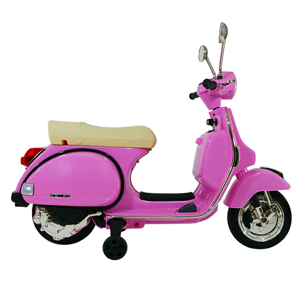 Scooter électrique Vespa rose 6V MP3