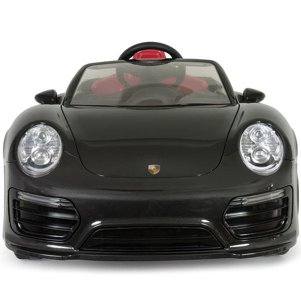 voiture lectrique porsche 911 turbo s 12v imove noire injusa king jouet v hicules. Black Bedroom Furniture Sets. Home Design Ideas