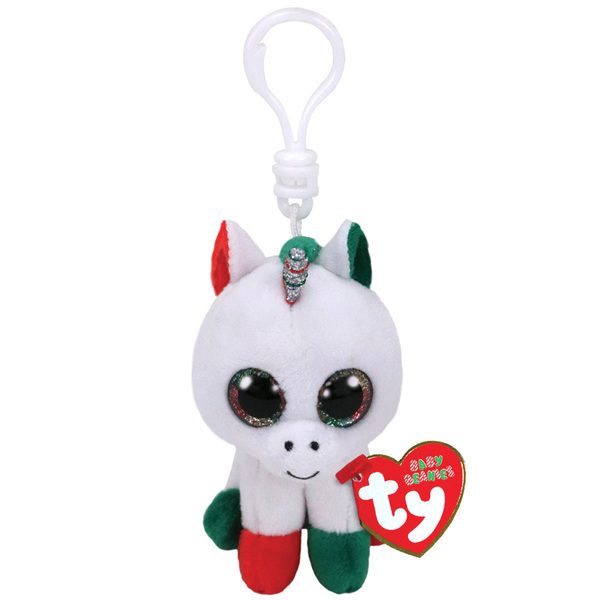 Beanie Boo's - Porte clés Candy Cane la licorne 8 cm