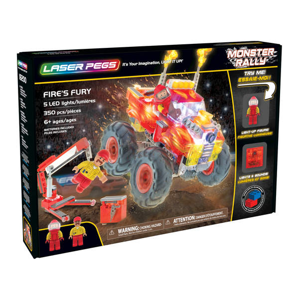 Laser Pegs-Véhicule Monster Rally Fire