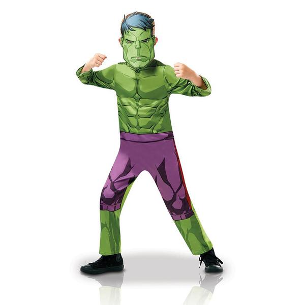 Déguisement classique Hulk série animée 7/8 ans