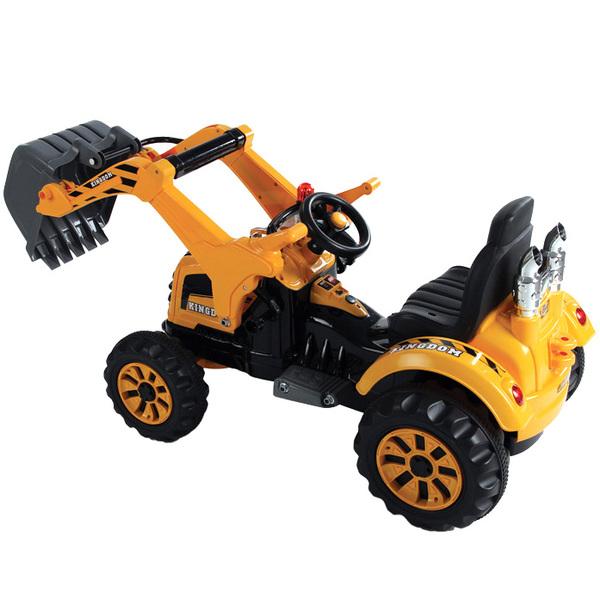 Tracteur électrique avec pelle 12V orange
