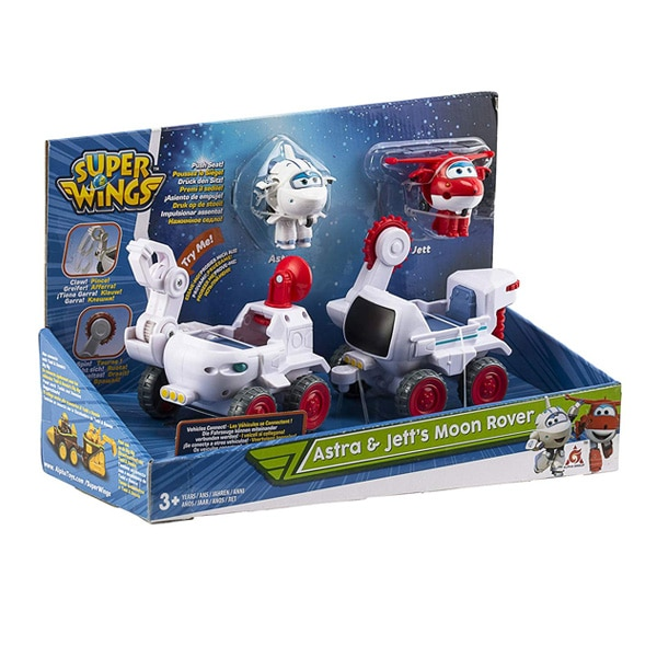 Super Wings-Véhicules lunaires Astra et Jett
