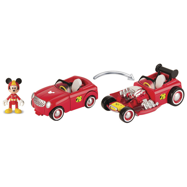 Mickey et ses amis top départ-Véhicule transformable avec figurine