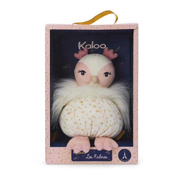 Les Kalines-Doudou Luna la chouette 20 cm
