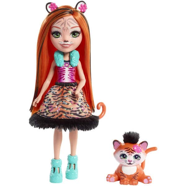 Enchantimals mini-poupée Tanzie Tiger et Tuft