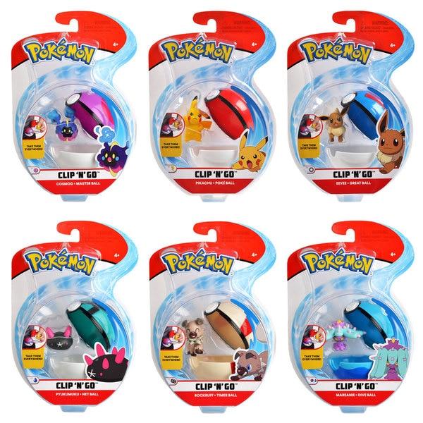 Pokémon-Pokéball Clip et sa figurine 5 cm