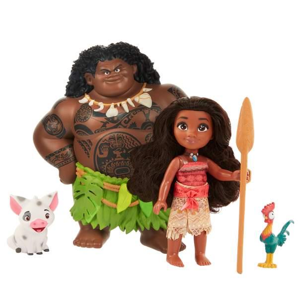 Vaiana-Coffret de 2 poupées 15 cm avec figurines