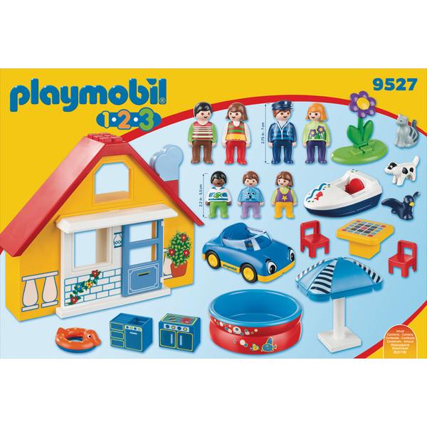 9527 - Playmobil 1.2.3 Maison de vacances