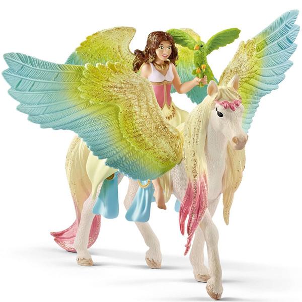 Figurine fée Surah avec un pégase scintillant
