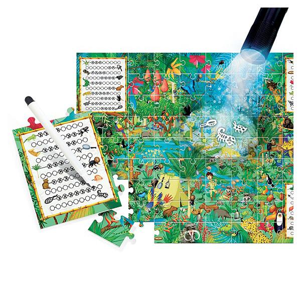 Puzzle explore la forêt