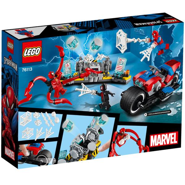 76113-LEGO® Marvel Le sauvetage en moto de Spiderman