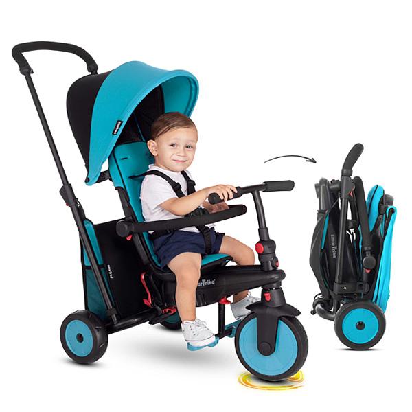 Tricycle évolutif pliant 6 en 1 STR 3 bleu