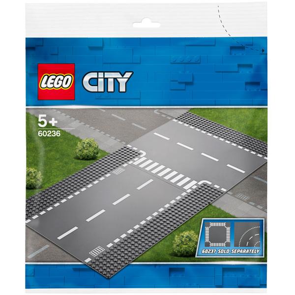 60236-LEGO® City Plaques droite et intersection