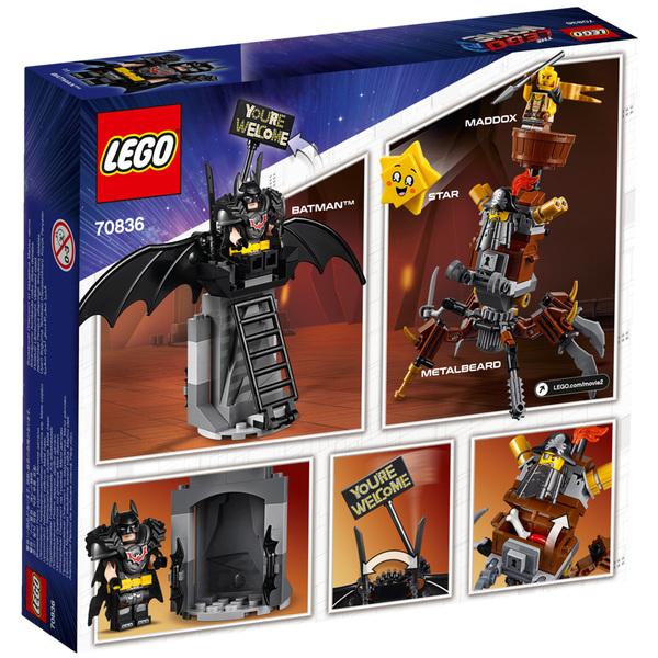 70836 - LEGO® MOVIE 2 Batman en armure de combat et Barbe d
