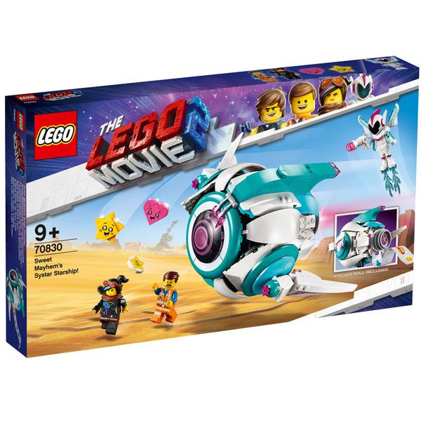 70830-LEGO® Movie 2 Le vaisseau spatial Systar de Sweet Mayhem