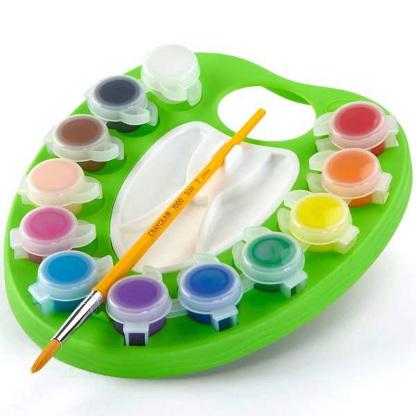 Palette de peinture lavable