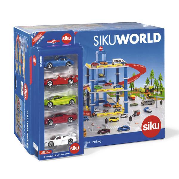 Parking Siku World avec 5 véhicules