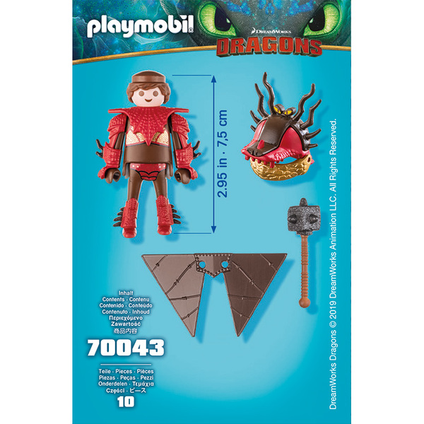 70043 - Playmobil Dragons 3 - Rustik en combinaison de vol