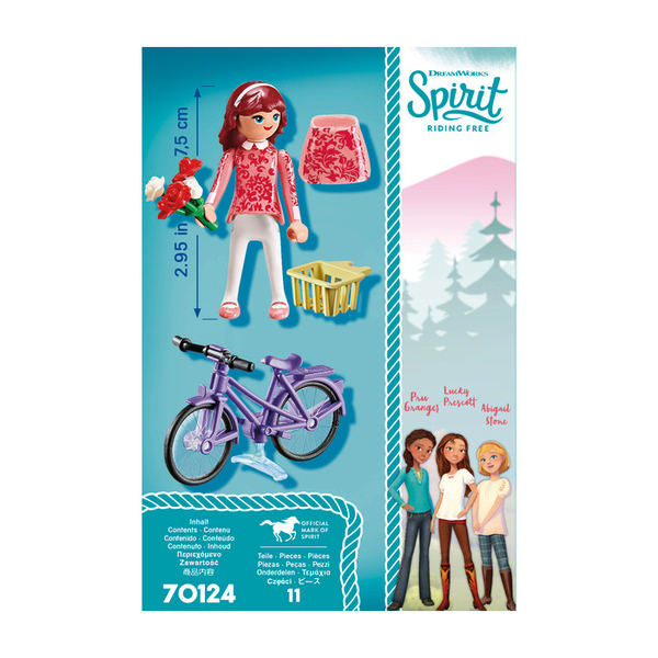 70124 - Playmobil Spirit - Maricela et bicyclette