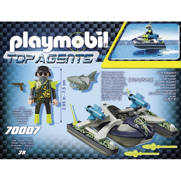 70007 - Playmobil Top Agents - Scooter marin S.H.A.R.K Team