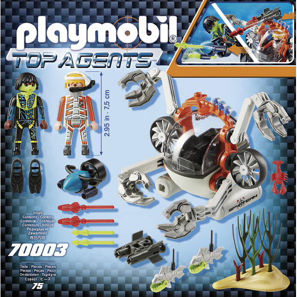 70003 - Playmobil Top Agents - Robot sous-marin Spy Team