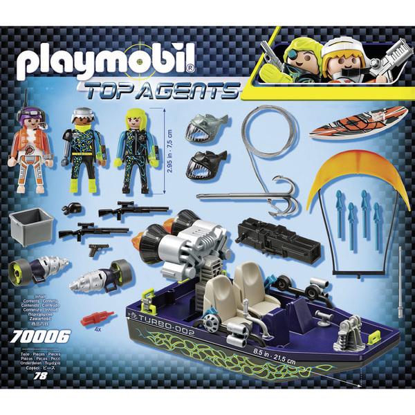h r Top S Harpon a k Team Agents Bateau Playmobil 70006 4jL5R3A