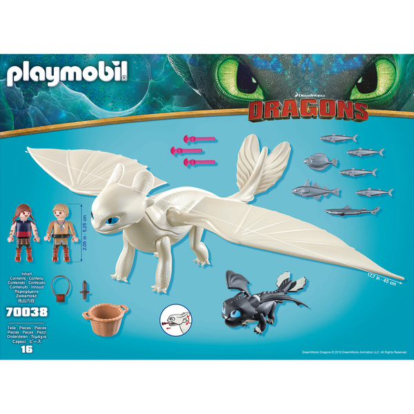 70038 - Playmobil Dragons 3 - Furie Éclair enfants et dragon
