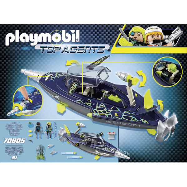 70005 - Playmobil Top Agents - Sous-marin S.H.A.R.K Team
