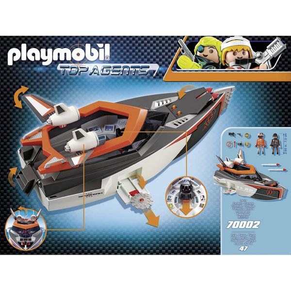 70002 - Playmobil Top Agents - Bateau Turbo Spy Team