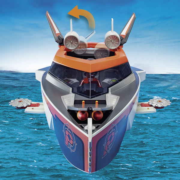 70002 Playmobil Top TeamKing Spy Bateau Agents Turbo R43Aqc5LSj